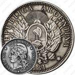 1 песо 1881 [Аргентина]