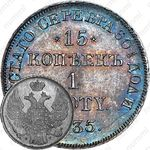 15 копеек - 1 злотый 1835, НГ