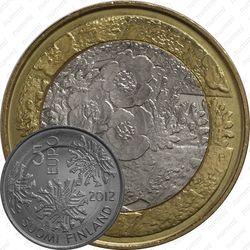 5 евро 2012, флора