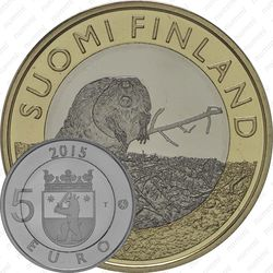 5 евро 2015, бобр