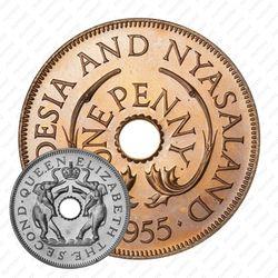 1 пенни 1955