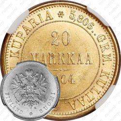 20 марок 1904, L