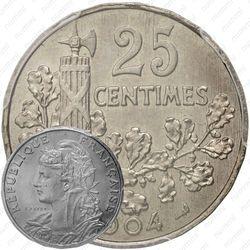 25 сантимов 1904