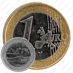 1 евро 2001, регулярный чекан Финляндии