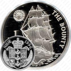 1 доллар 1996, парусник Остров Ниуэ