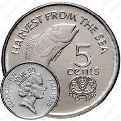 5 центов 1995, Фиджи
