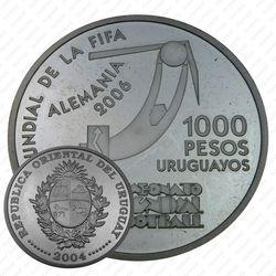 1000 песо 2004, ЧМ по футболу [Уругвай] Proof