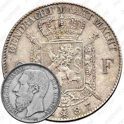 2 франка 1887 [Бельгия]