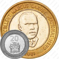 20 долларов 2001 [Ямайка]