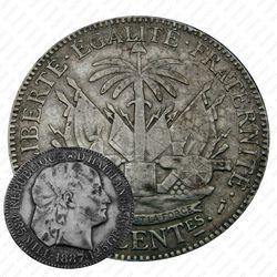 50сантимов 1887 [Гаити]