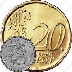 20 евро центов 1999, М