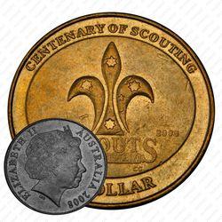 1 доллар 2008, скауты [Австралия]