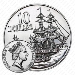 10 долларов 1988, 200 лет высадке Артура Филлипа [Австралия]
