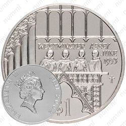 1 доллар 2002, 50 лет коронации Королевы Елизаветы II [Фиджи]