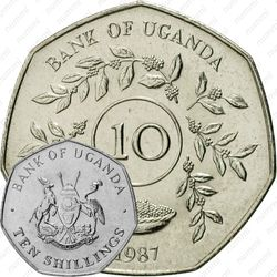 10 шиллингов 1987 [Уганда]
