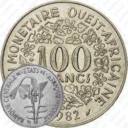 100 франков 1982 [Западная Африка (BCEAO)]