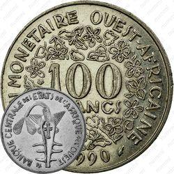 100 франков 1990 [Западная Африка (BCEAO)]
