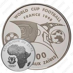 1000 заиров 1997, футбол [Демократическая Республика Конго] Proof