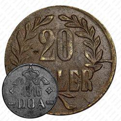 20геллеров 1916, медь [Восточная Африка]