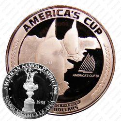 "5 долларов 1988, регата ""Кубок Америки"" [Австралия] Proof"