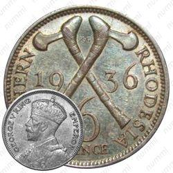 6 пенсов 1936 [Зимбабве]