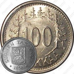 100 марок 1956, H