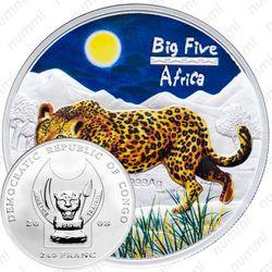240 франков 2008, леопард [Демократическая Республика Конго] Proof