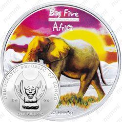 240 франков 2008, слон [Демократическая Республика Конго] Proof