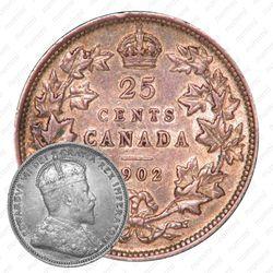 25 центов 1902, без обозначения монетного двора [Канада]