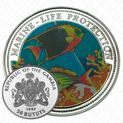 50 бутутов 1997, Защита морской жизни [Гамбия] Proof