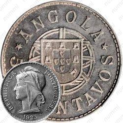 """50 сентаво 1923, KN, знак монетного двора: """"KN"""" - Кингз Нортон Металл, Бирмингем [Ангола]"""