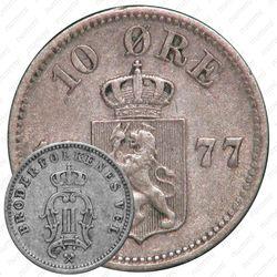 10 эре 1877 [Норвегия]