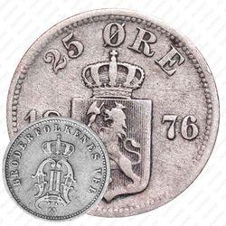 25 эре 1876 [Норвегия]