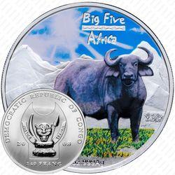 240 франков 2008, буйвол [Республика Конго] Proof