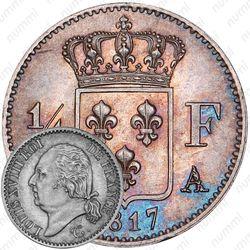 ¼франка 1817-1824 [Франция]