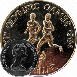 1 доллар 1984, XXIII летние Олимпийские Игры, Лос-Анджелес 1984 [Австралия]