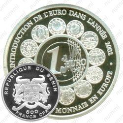 500 франков 2002, Введение ЕВРО [Бенин]
