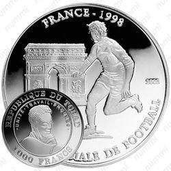 1000 франков 2002, Чемпионат мира по футболу 1998, Франция [Чад]