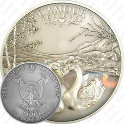 1000 франков 2011, Люблю всегда - Лебеди [Камерун]