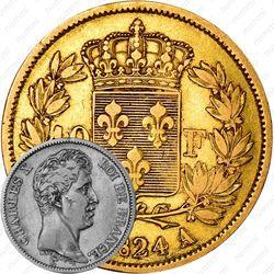 40 франков 1824-1830 [Франция]