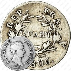 ¼ франка 1806-1807 [Франция]