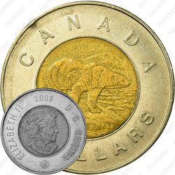 2 доллара 2006, 10 лет с начала чекана монет 2 доллара [Канада]