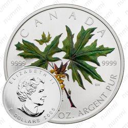 5 долларов 2005, Кленовые листья [Канада]