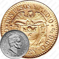 2½ песо 1924-1929 [Колумбия]