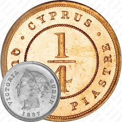 ¼ пиастра 1879-1901 [Кипр]