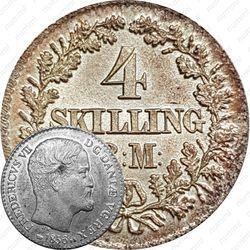 4 скиллинг-ригсмёнта 1854-1856 [Дания]