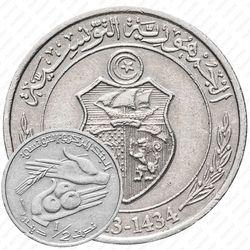 ½ динара 1996-2013 [Тунис]
