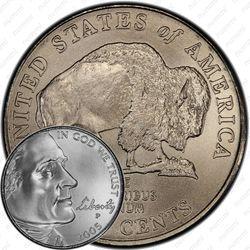 5 центов 2005, бизон