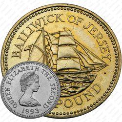 1 фунт 1993, бригантина Century