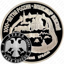 3 рубля 1995, кремль